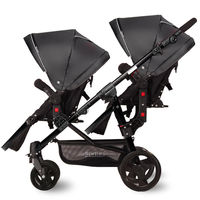 Luxury Portable Newborn Baby Stroller Foldable Twin stroller BB bidirectional double stroller Aviation aluminum alloy material