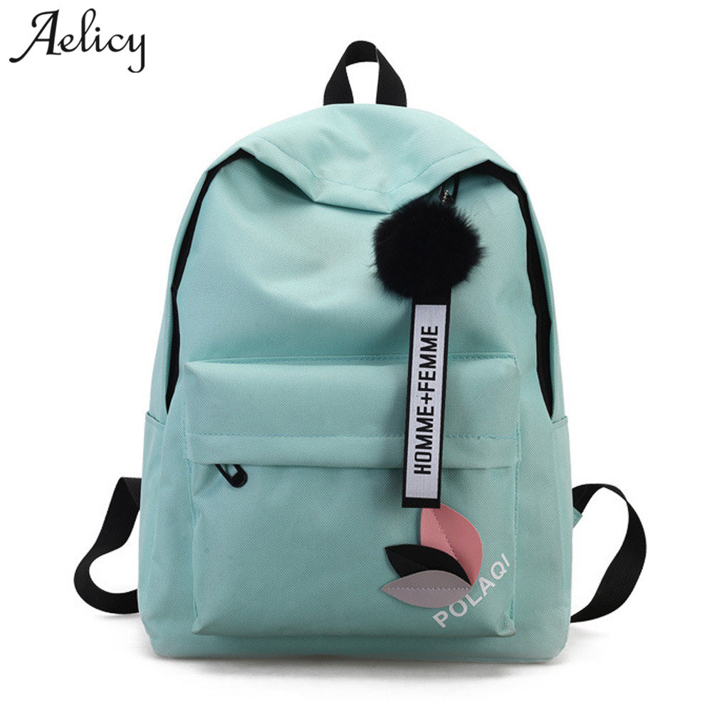 Aelicy High Quality New Arrival Women's Canvas Backpack School bag For Girls Rucksack New Design Backpacks School bags Travel