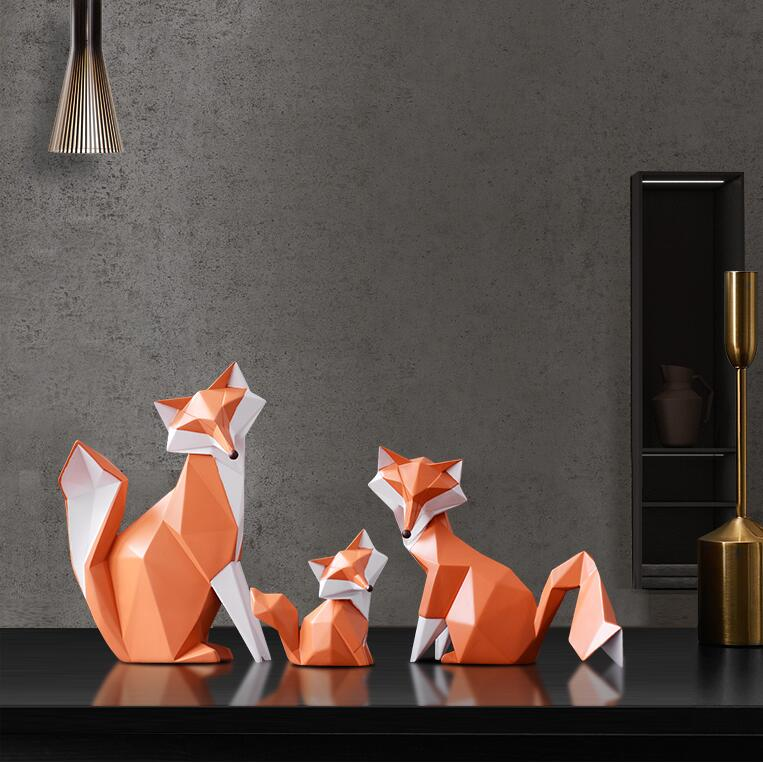 New ceramic Creative Modern Simple Fox Decoration Living Room vintage animal  DECOR Wedding Gifts handicraft ornament porcelain Керамика
