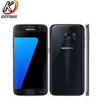 Оригинальный Samsung Galaxy S7 g930w8 4G LTE мобильный телефон 5,1 4G B оперативная память 32 ГБ Встроенная Octa Core 12MP Android 2560x1440px одной сим