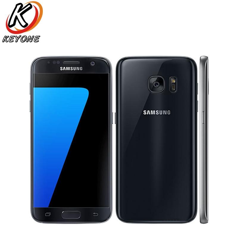 D'origine Samsung Galaxy S7 G930W8 4g LTE Téléphone Portable 5.1 4 gb RAM 32 gb ROM Octa Core 12MP Android 2560x1440px Simple SIM Téléphone