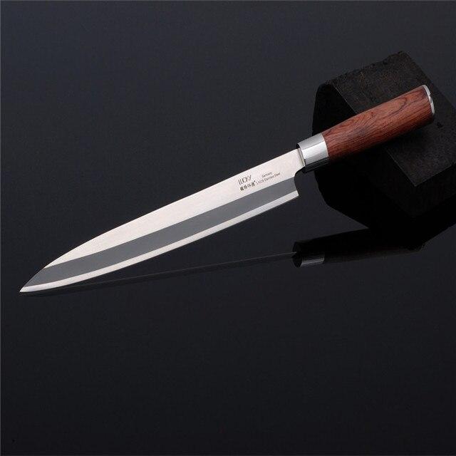 Sashimi Knife slicer Germany SS Rosewood handle Salmon fish fillet knife Kitchen Knife left-hand blade Knives freeship9.01