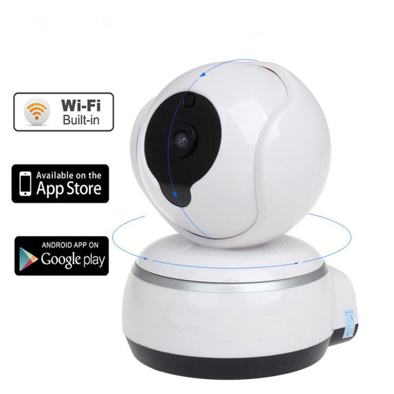 IP 720p HD Network Wifi/Wireless Pan/Tilt Two -Way Audio IR Night Vision Network Sd/TF Card Home Baby Monitor Indoor Camera