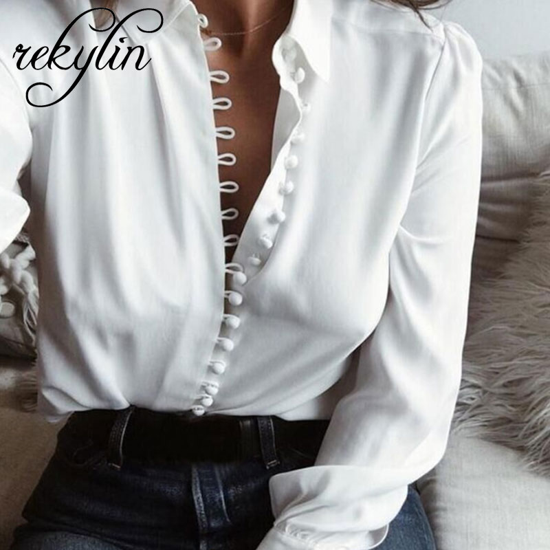 Softu Women Fashion Casual Solid Long Sleeve   Blouse   Lapel   Shirt     blouse     shirt   women Turn-down Collar Regular blusas Summer   Shirts