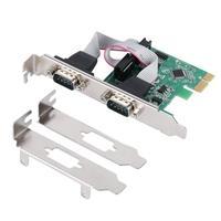 PCIe Serielle Expansion Karte PCI Express 1 0 x1 zu 2 Port Industrielle DB9 COM RS232 Konverter Adapter Controller für Desktop PC w