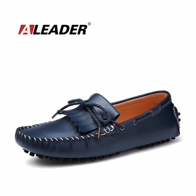 Men's Driving Casual Moccasin Flats with Tassle Knot Slip On Loafers Shoes