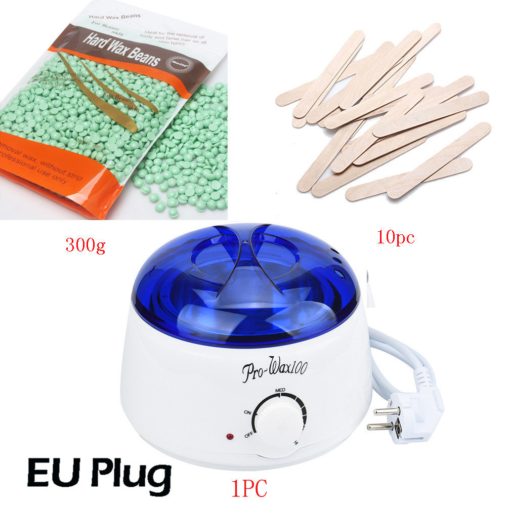 hard wax beans hair removal waxing 300g Wiping Sticks Hot Wax Warmer Heater Pot Depilatory MINI SPA hair removal machine Set depilatory wax warmer hard wax beans hair removal black wax machine 250g natural beans for beauty spa epilation
