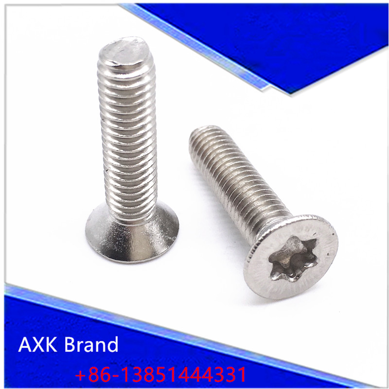 Small Torx Screw M1.6 M2 M2.5 M3 Silver Flat Head Stainless Steel Machine Screws T4 T6 T8 T10 Pack 1000 t a m 10 alu silver