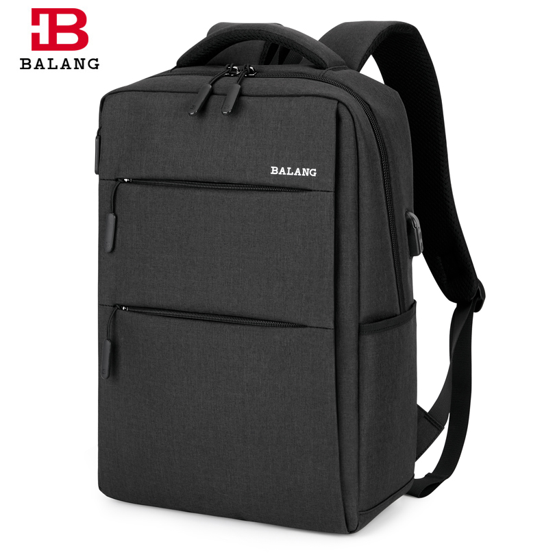 BALANG New Business Waterproof Laptop Backpack Men's Large Capacity Travel college Student Backpacks Shoulder Bag for Teenagers
