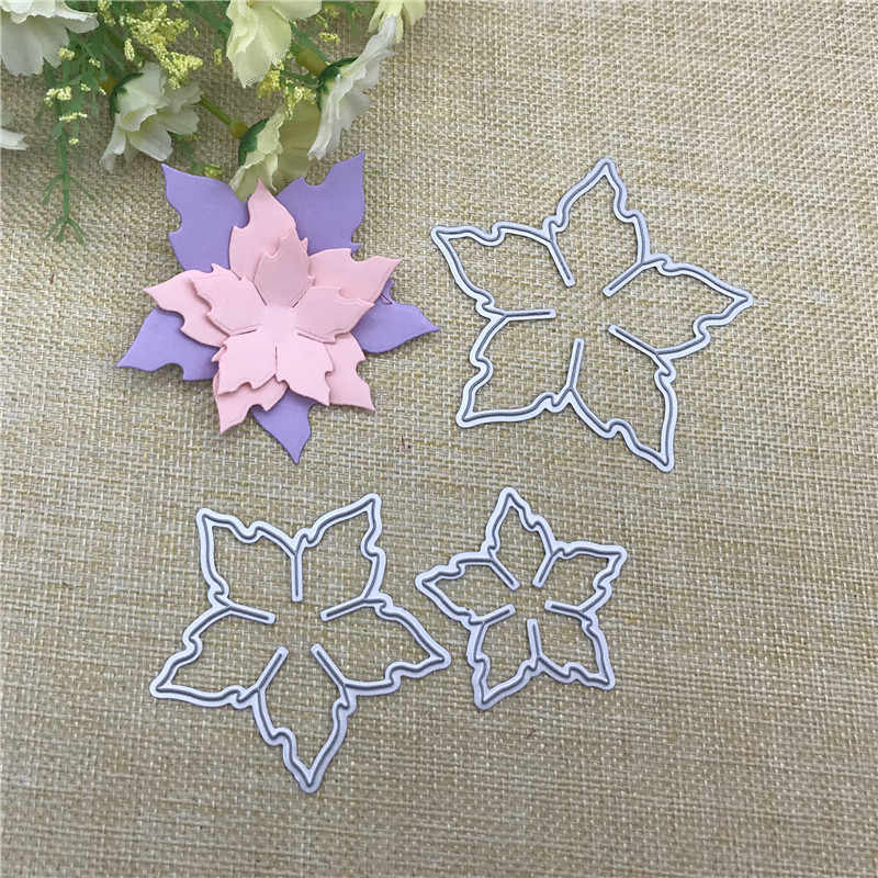 3pcs flowers decoration Metal Cutting Dies Stencils For DIY Scrapbooking Decorative Embossing Handcraft Die Cutting Template