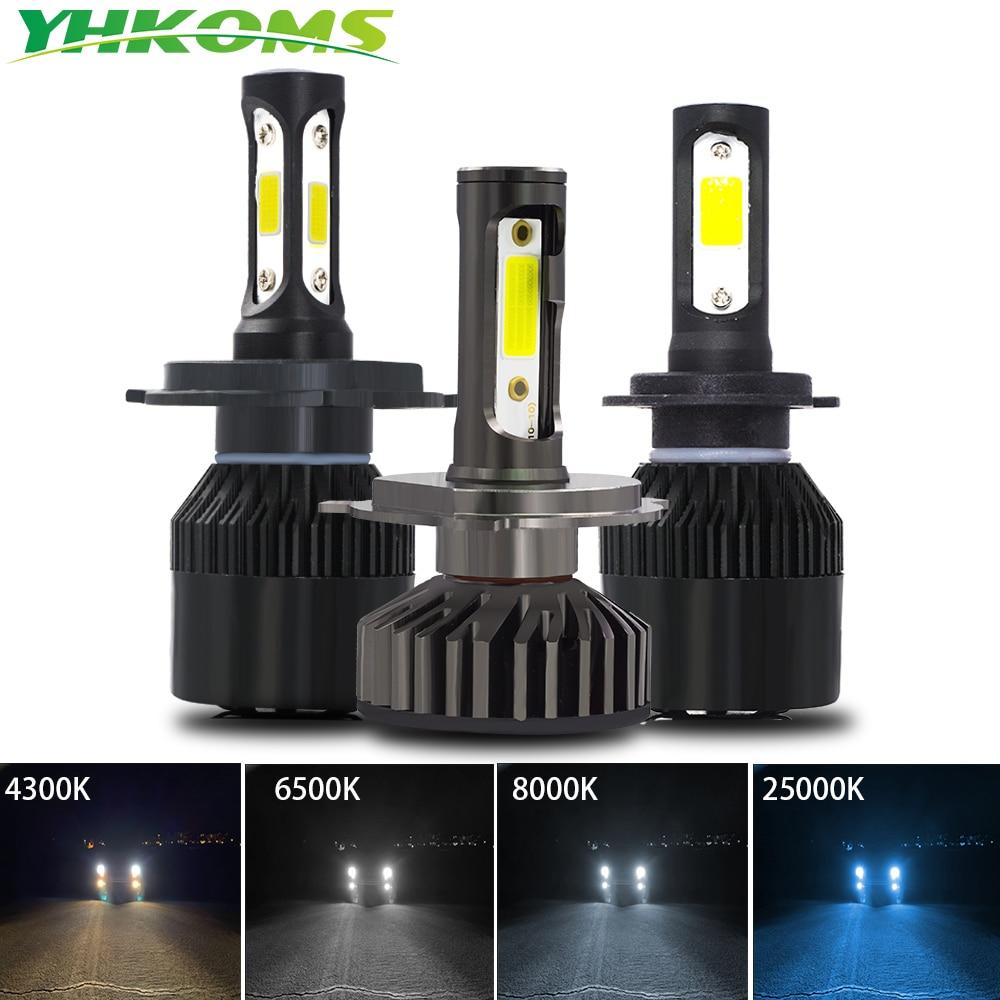 YHKOMS Mini Size H1 H3 H4 H7 H8 H9 H11 9005 9006 880 881 Canbus 3000K 4300K 6500K 8000K 25000K LED Bulb 10000LM Car Headlamp 12V