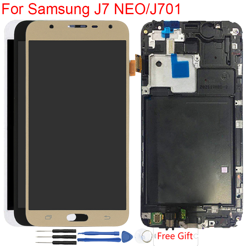SM-J701F LCD For Samsung Galaxy J7 NEO J701 J701F Display Frame LCD Touch Screen Digitizer Assembly Replacement LCD DisplaySM-J701F LCD For Samsung Galaxy J7 NEO J701 J701F Display Frame LCD Touch Screen Digitizer Assembly Replacement LCD Display
