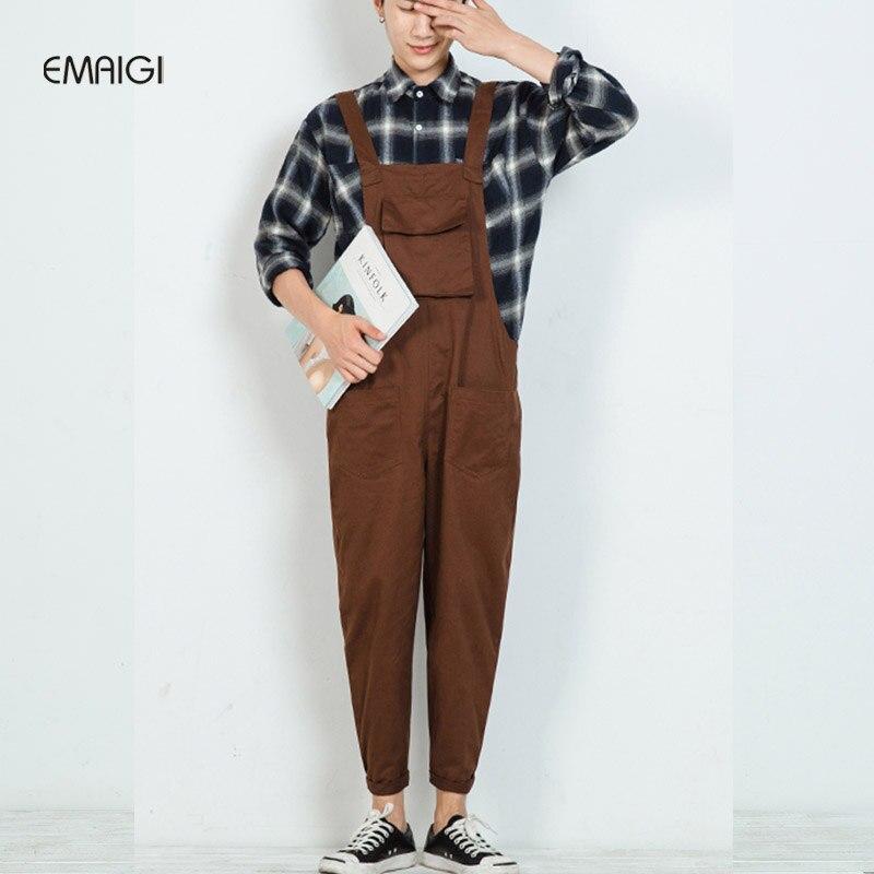 Nouveau hommes de pantalon bretelles combinaisons mâle mode casual harem pantalon femmes hommes salopette pantalon lâche combinaisons K166