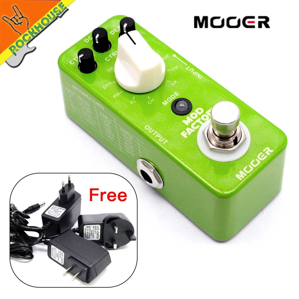 MOOER Mod Factory 11 Classic Modulation Effects Guitar Effects Pedal Chorus Flanger Phaser Tremolo True Bypass Free Shipping mooer single acoustic delay chorus effects true bypass baby water effect guitar pedal