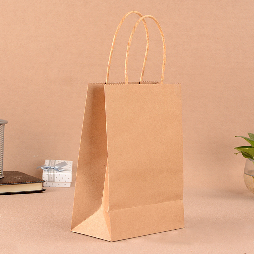 10 Colors  Party Paper Carrier Bag Wedding Treat With Handle Loot Bags(China)