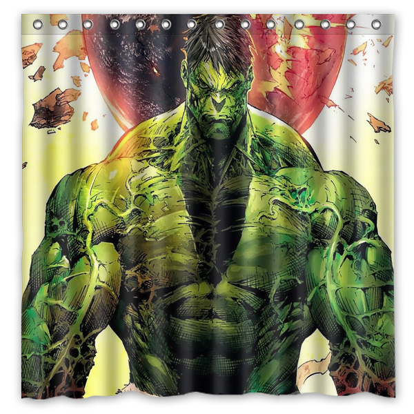 The Incredible Hulk Shower Curtain Waterproof Fabric For Bathroom Polyester Bath Screen Room Product 180x180cm
