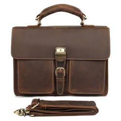 Crazy Horse кожаная сумка для мужчин портфель сумка для ноутбука 7164R