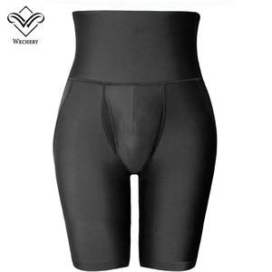 Image 5 - Wechery Kontrol Külot Butt Kaldırıcı Kalça Pantolon Erkekler Için Siyah Yüksek Bel Zayıflama Iç Çamaşırı Adam Ince Karın Göbek Vücut shpaer