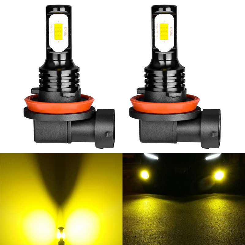 Katur 72W H11 H16/H16JP H8 Led Bulb For Cars Running Driving Fog Lights 3000K Golden 6000K White Auto Lighting Canbus Error Free