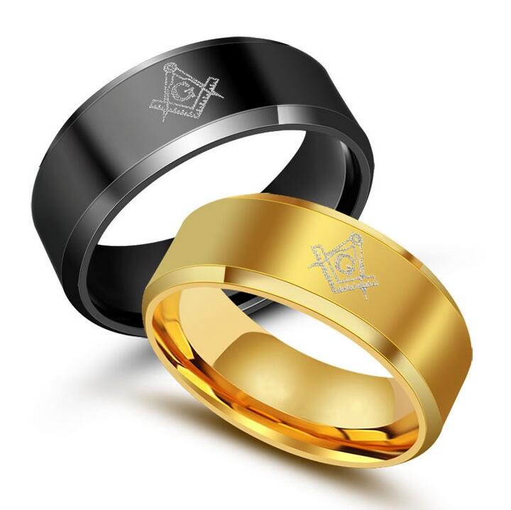 Cheap Mens Rings Cool Black Gold Titanium Steel Religious Rings For Men  High Quality Best Friends Male Ring Man Jewelry Anel