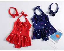 Children girls Swimwear for Hight 70CM-120CM one piece children swimsuits Kids bikini swimsuit kid bathing suit 3-8 years