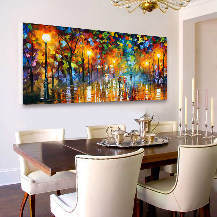 Night Rain Umbrella Scenery Cheap Modern Abstract Oil Painting Unframed Wall Picture For Living Room Bedroom Canvas Prints Mural Painting Kitchen Cabinets Black Painting Murals On Canvaspainting Lamp Aliexpress