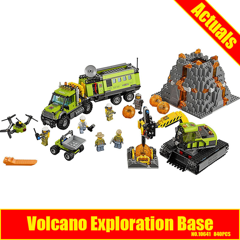 10641 Bela City Series Volcano Exploration Base Geological Prospecting Building Block Bricks Toys Gift For Children 60124 a toy a dream 10641 city series volcano exploration base geological prospecting building block bricks toys gift for children