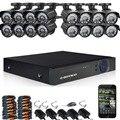 DEFEWAY 16-КАНАЛЬНЫЙ 720 P AHD DVR Kit 16x720 P 1200TVL Крытый Открытый Камеры Видеонаблюдения 16 канала CCTV система