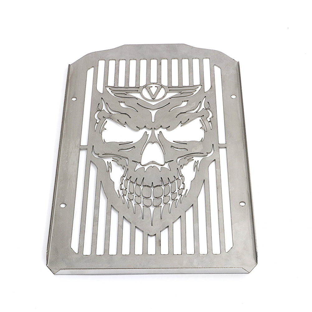 Skull Radiator Cover Guard Grill For Kawasaki VN900 Vulcan 900 Classic 2006-2014
