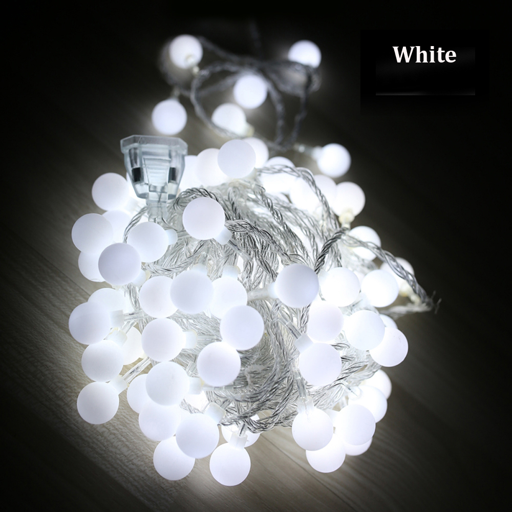 Tanbaby Waterproof String light LED 10M 100led ball AC220V , AC110V outdoor decoration lighting for christmas festival party