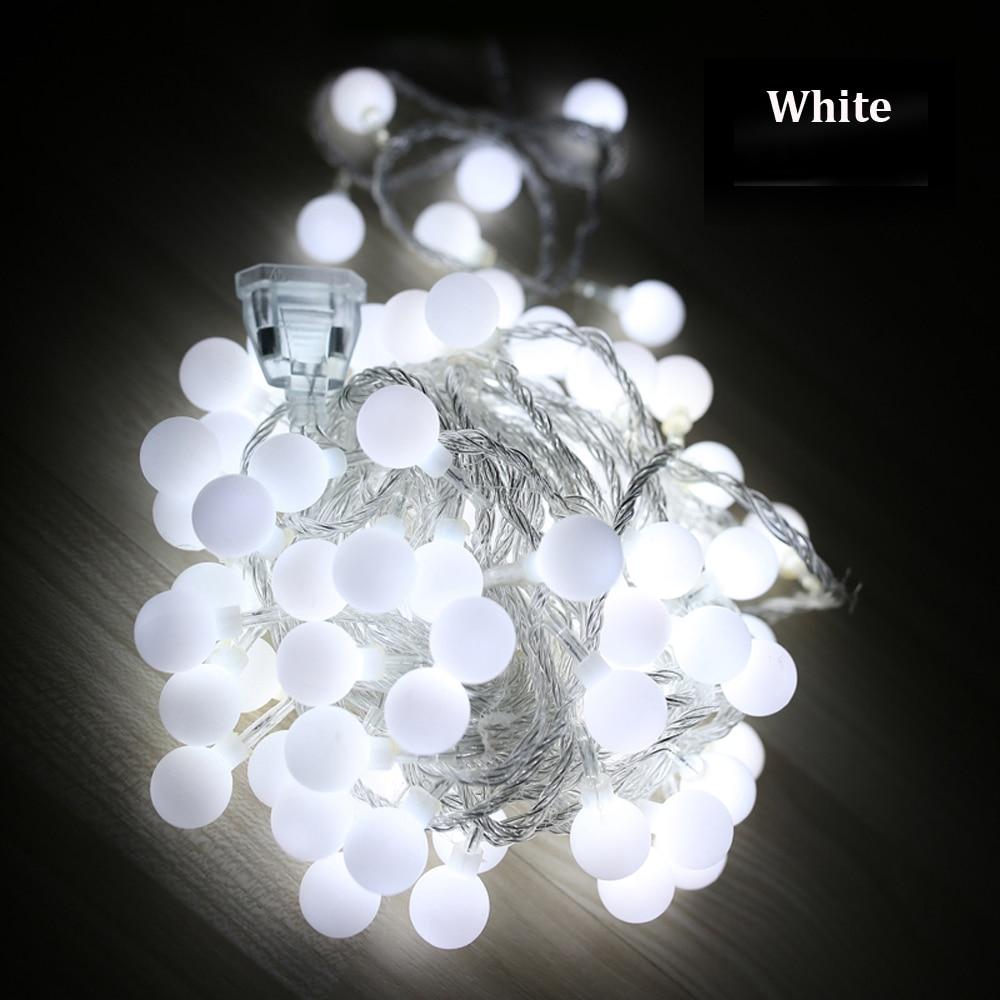 Tanbaby Waterproof String light LED 10M 100led ball AC220V AC110V outdoor decoration lighting for christmas festival