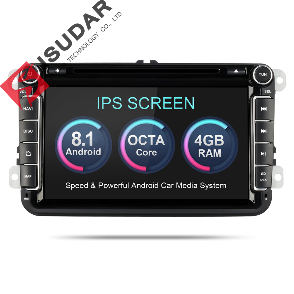 Isudar Автомагнитола 2 Din на Android 8.0.0 для Автомобилей VW/Volkswagen/POLO/PASSAT/Golf 8 Ядер FM/AM Радио
