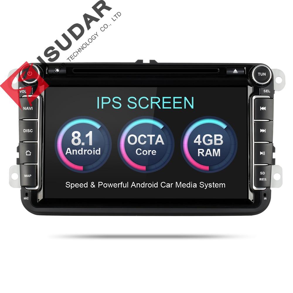 Isudar reproductor Multimedia Android 8,0 GPS 2 Din Car Audio Radio Auto para VW/Volkswagen/POLO PASSAT/Golf 8 núcleos Radio FM IPS