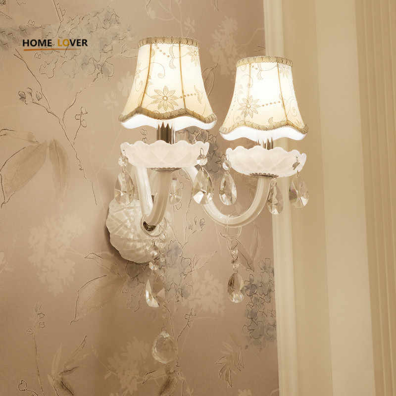European Design Led Luxury Hanging K9 Crystal Wall Lamps Bedroom Headboard Wall Sconce Light Fixture Sconce Lighting Fixtures Wall Sconce Lighting Fixturescrystal Wall Lamp Aliexpress