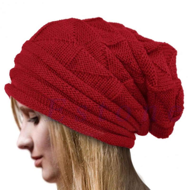 e8a4aedf461 ... Newest Hot Men Women Knit Oversize Baggy Slouchy Beanie Warm Winter Hat  Ski Chic Cap Skull ...