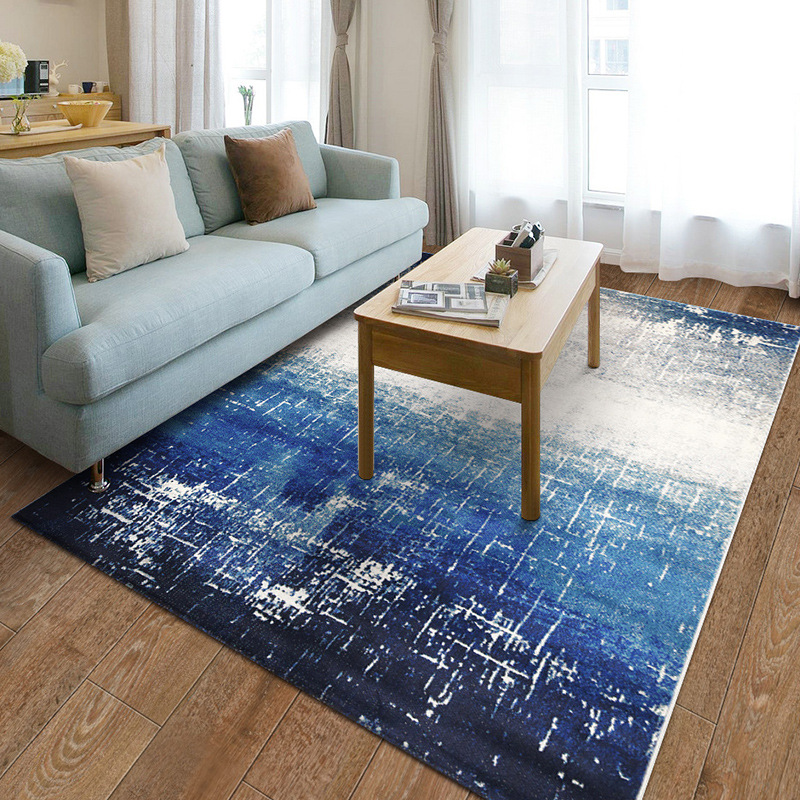 US $177.93 50% OFF|Blue Mediterranean Carpets For Living Room Home  Decoration Bedroom Rug Sofa Coffee Table Floor Mat Study Rugs Dining Room  Carpet-in ...