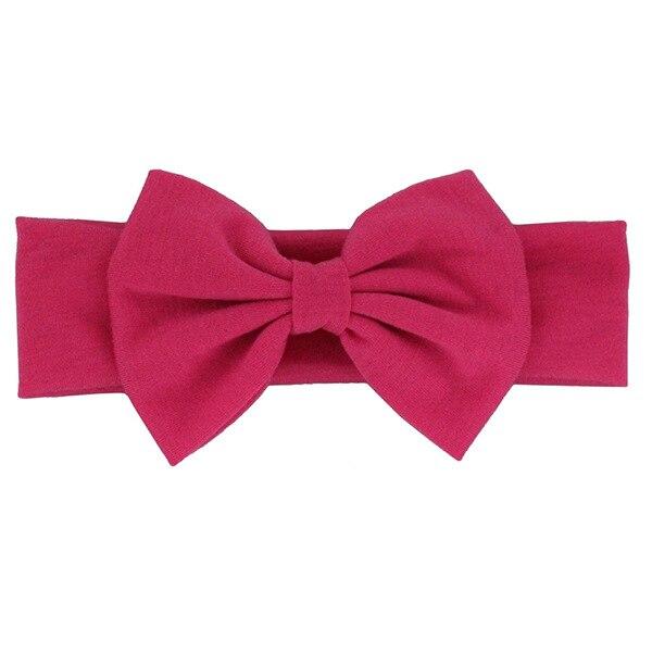 Новинка года; хлопковая эластичная однотонная повязка на голову с бантом для новорожденных девочек; Детская повязка для волос; повязка на голову для младенцев; Бандо; bebe - Цвет: 13
