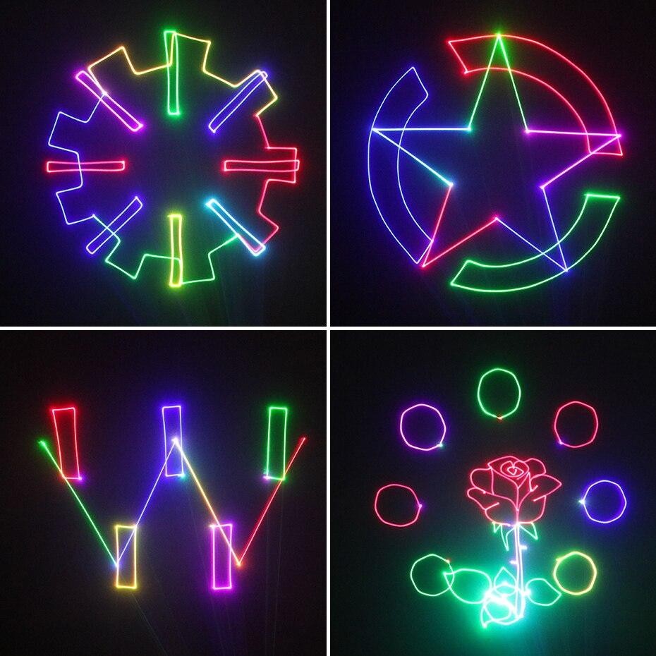 Projecteur Laser d'animation de carte d'alien 500mW rvb DMX SD PRO DJ effet d'éclairage de scène de Disco Scanner de barre de Club de vacances de mariage - 5
