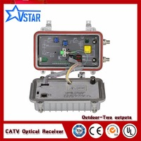 Cable TV 2 Outputs Outdoor Optical Receiver