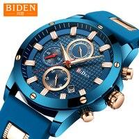 2018 Watch Men BIDEN Fashion Sport Quartz Clock Mens Watches Drop Shipping Top Brand Business Waterproof Watch Relogio Masculino