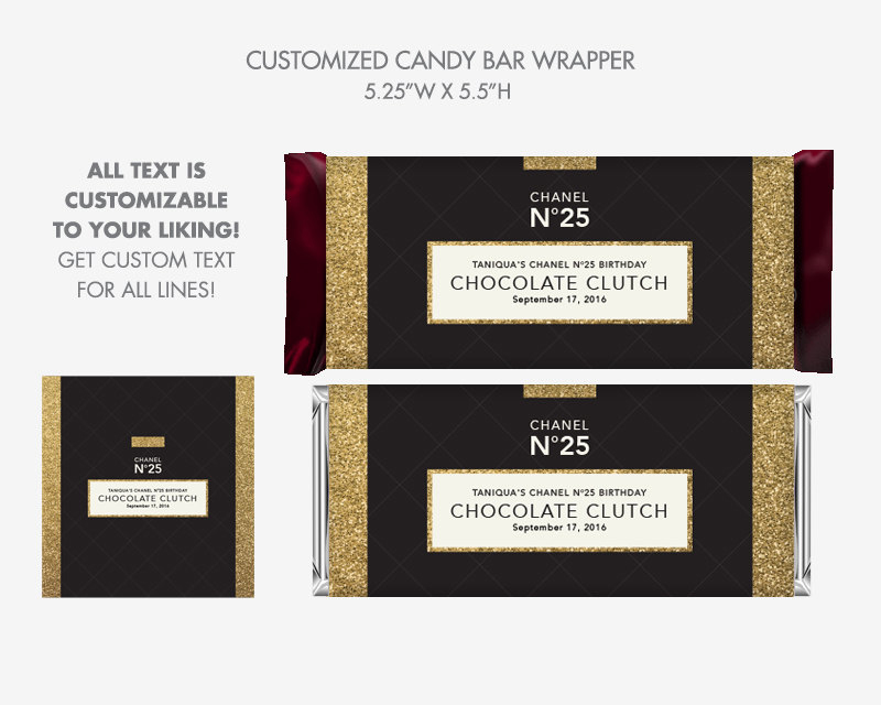 48* Personalized Candy Wrapper Supplies Wedding Chocolate Bar Wrappers Candy Dress Personalised Chocolate Candy Wrappers