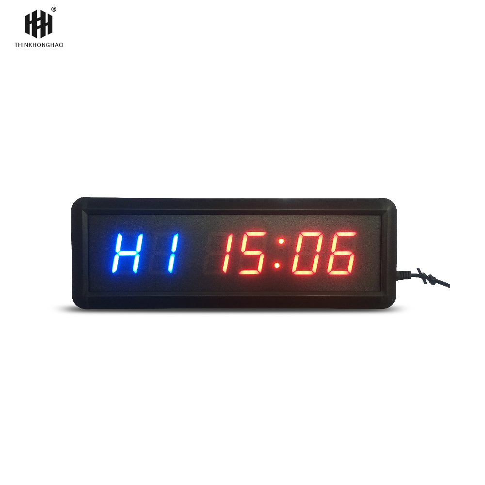 transporti falas 1.5 GYM Crossfit Timer LED Interval Koha e Trajnimit dhe Koha e pushimit Countdown alternative Countdown Si një Stopwatc