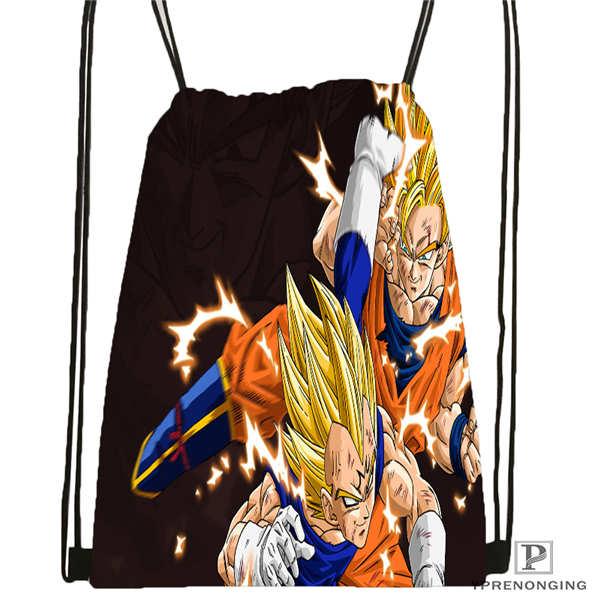 Custom Dragon Ball Z Super Drawstring Backpack Bag Cute Daypack Kids Satchel Black Back 31x40cm 2018611