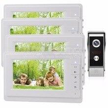 DIYSECUR 7 inch TFT Color LCD Display Video Door Phone Video Intercom Doorbell 700TVLine HD IR Night Vision Camera 1V4