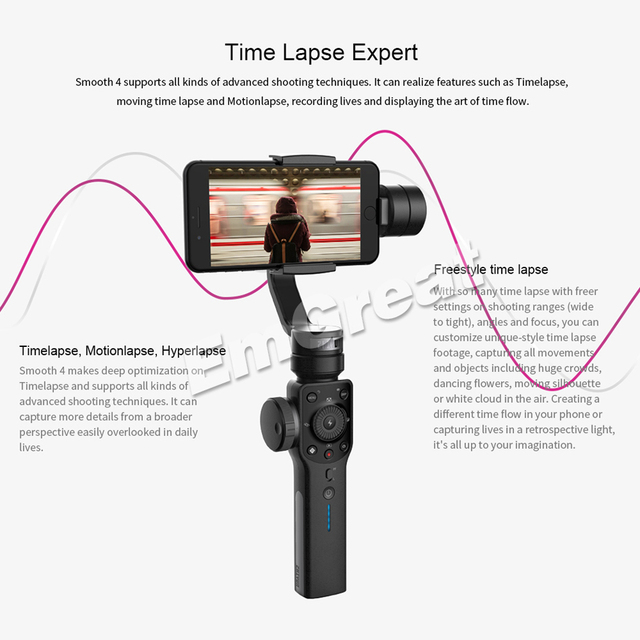 Zhiyun Smooth 4 Q 3-Axis Handheld Smartphone Gimbal Stabilizer