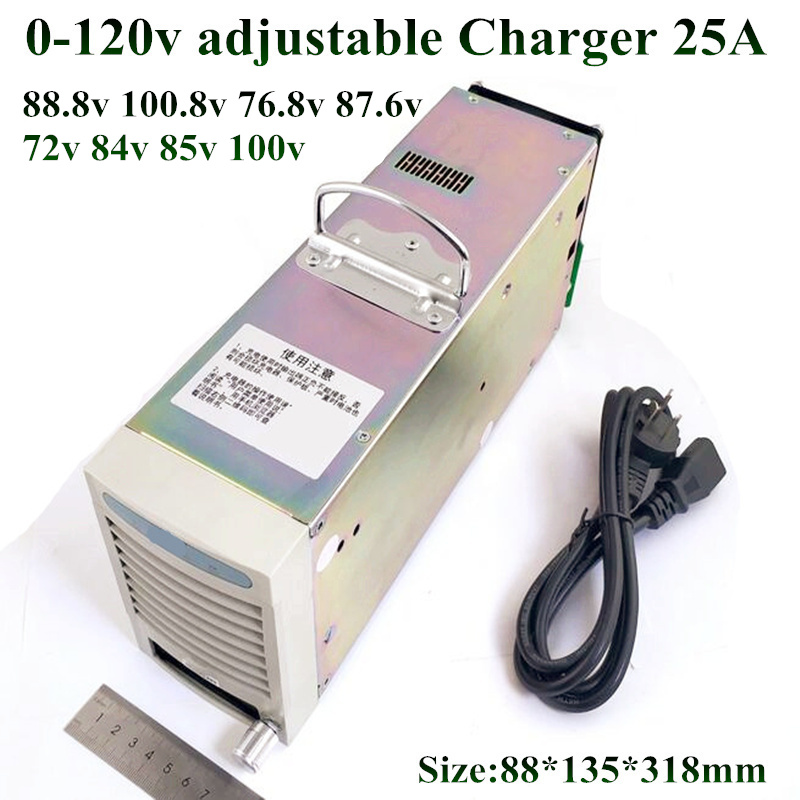 Accessories & Parts Adjustable 0-120v 20a 40a 12v 24v 48v 50a 30a 60v 36v 90v 100v 80v 70v High Current Charger For Power Li-ion Lifepo4 Lipo Lto Consumer Electronics