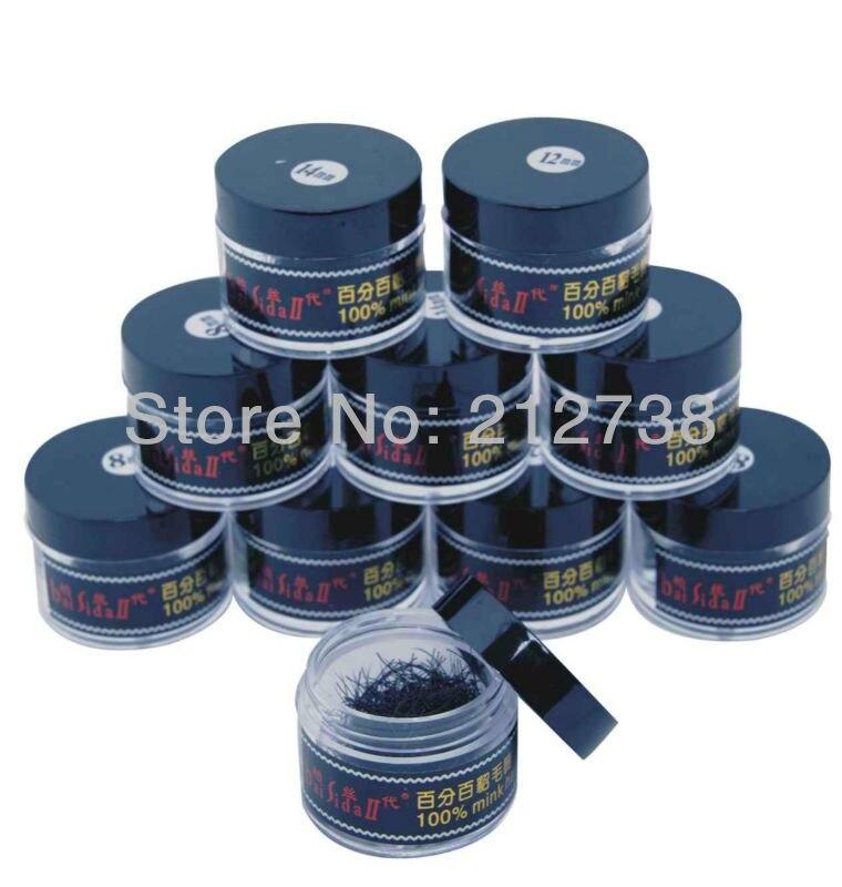 סיטוני! 10 קופסאות 0.15 0.12 8mm-12mm מינק שקר - איפור