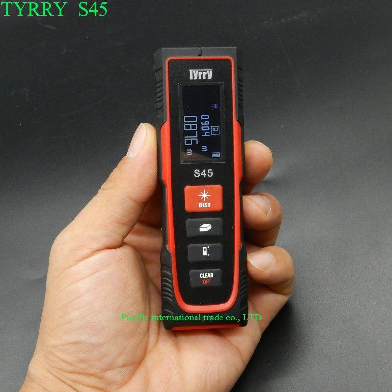 TYRRY S45 лазерный дальномер 45 м цифровой измеритель расстояния Рулетка Площадь/объем цифровой лазерный инфракрасный дальнометр