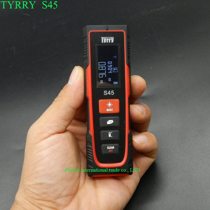 TYRRY S45 laser range finder 45M Digital Distance Meter Tape Measure Area/Volume Digital Laser infrared distance meter 80m handheld laser rangefinders digital laser distance meter infrared laser range finder tape ruler measure area volume tool