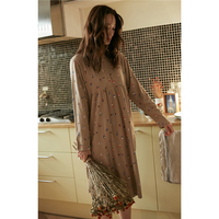 KISBINI 2019 Spring New Loose Style Nightgowns For Women Cotton Long Sleeve Print Nightwear Sleepwear Sleeping dress